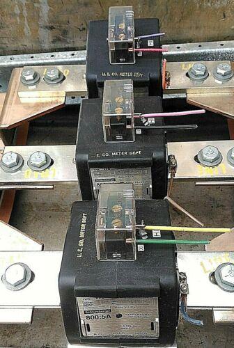 Schlumberger 800:5 Amp Current Transformer 0.6 KV BIL 10 KV Cat#92352-193 60 Hz