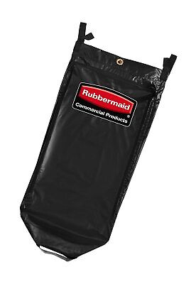 Rubbermaid 1851454 Executive 34 Gallon Janitorial Cleaning Cart Vinyl Bag