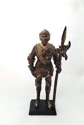 "Medieval Suit Of Armor Knight Of Chivalry Swiss Halberdier 7 "" H Figurine Statue"