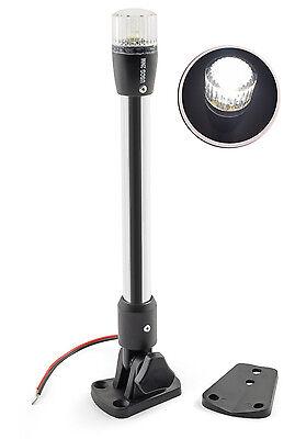 Pactrade Marine Boat Pontoon Fold LED Navigation Stern Anchor Pole Light 10.5''