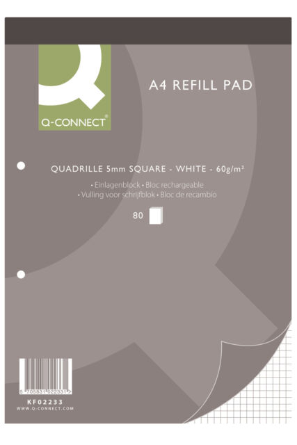10 x A4 REFILL MEMO PADS - 7 VARIETIES - RULED / MARGIN / PLAIN / GRAPH / QUAD