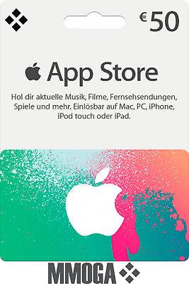iTunes 50€ EUR Guthaben Karte 50 Euro Apple Store Gutschein Key Deutschland - DE
