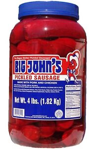 Big John's Pickled Sausage - 4 lb. jar
