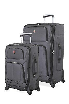 Swissgear 6283 Expandable 2pc Spinner Luggage Set - Dark Gray