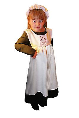 Ursula Costume Kids (Childrens Ursula Urchin World Book Day Victorian New Fancy Dress)