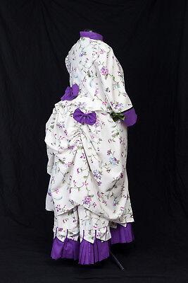 Viktorianisch  Historisch Tournürenkleid Bustle Tageskleid, Maßgeschneidert