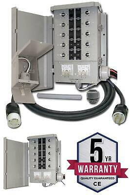 Manual Transfer Switch Kit 30-amp 8-space 10-circuits G2 Control Portable Gen