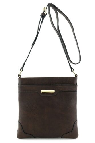 Women's Medium Size Solid Modern Classic Crossbody Bag with