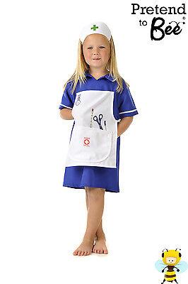 GIRLS KIDS CHILDRENS NURSES HERO DAY FANCY DRESS OUTFIT NURSE COSTUME AGE 3-5-7 (Kids Nurses Outfit)
