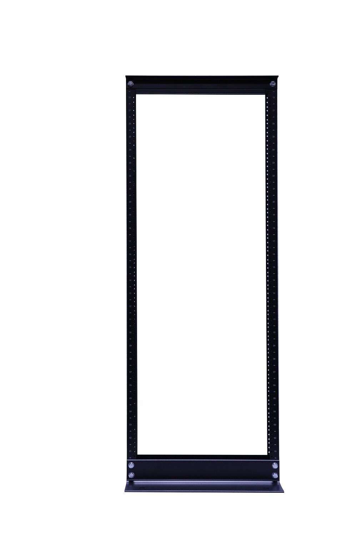 u ft post open frame it network relay rack  42u 2 post open frame it network server relay rack 900lb capacity