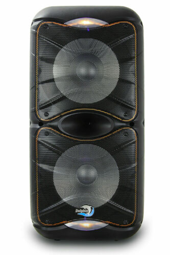 Dolphin 3600 Watt SP-212RBT Rechargeable Bluetooth Party Speaker System Dual 12""
