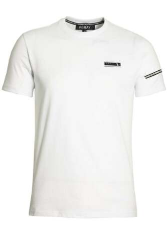 Mens T-Shirt FORAY Mega Tee with Reflective Stripe Black