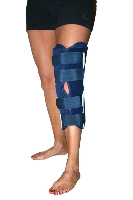 Tri Panel Knee Splint Leg Brace Post Pre Op Anterior Pain Breathable Immobilise