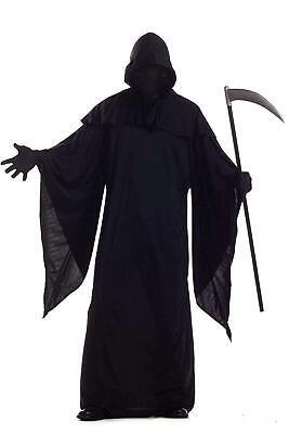 Horror Robe Grim Reaper Costume, XL(44-46), Black, Size X-Large mT4d
