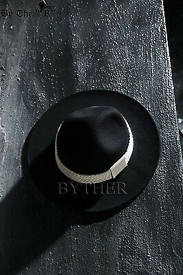 ByTher Men s Flat Rope Decoration High Quality Wool Felt Mountain Fedora Hat  UK Item Number  111977123585. Condition   New with tags ... 07bf17e78260