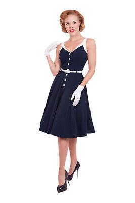 60s Vintage Inspired Tatyana Sea Breeze Dress Pinup Girl Sailor Navy Dress](Navy Pinup Girl)