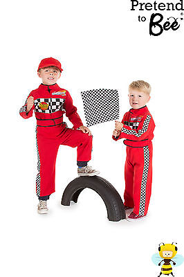 TODDLER BOYS KIDS CAR RACING DRIVER ROLE PLAY COSTUME OVERALLS OUTFIT AGE 2-3-5 - Race Car Driver Costume Toddler