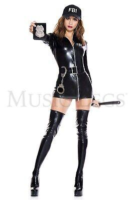 Secret Agent Halloween Costume Women (Music Legs FBI Secret Agent 70927)