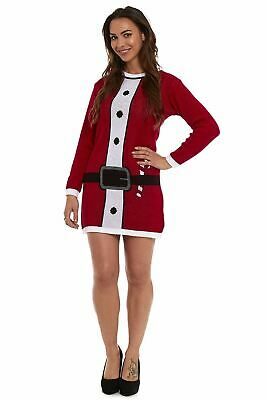 WOMENS 2019 NEW CHRISTMAS TUNIC NOVELTY XMAS JUMPER DRESS KNITTED RETRO SWEATER ()