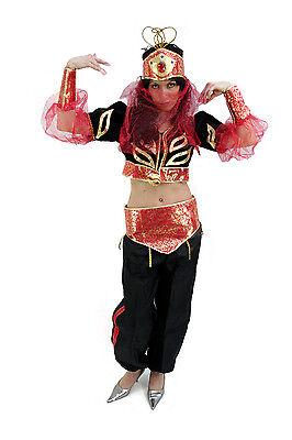 Costume: Belly Dancer 1001 Night Scheherazade Arabian Princess Harem Lady K8