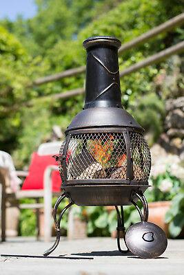 56156 La Hacienda Medium Leon Bronze Effect Finish Chiminea Patio Heater