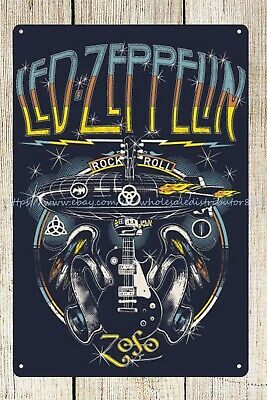 Led Zeppelin rock band metal tin sign decorate your -