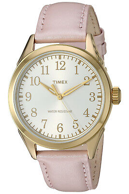 Timex Women's Briarwood Terrace Pink Leather Dress Watch TW2P99100