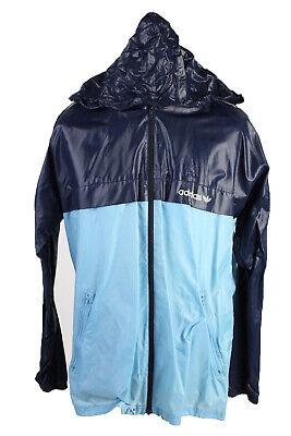 Adidas Waterproof Raincoat Festival Outdoor Jacket Unisex 42 Blue - SW2580