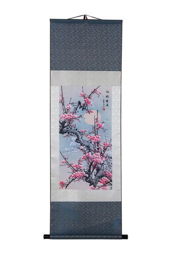 Art Asian Wall Scroll, Silk Chinese Painting Oriental Wall Decor