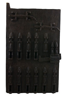Door Dogon Attic in Mil Mali 64x38 cm - Flap Case - 450w Art African - 1064