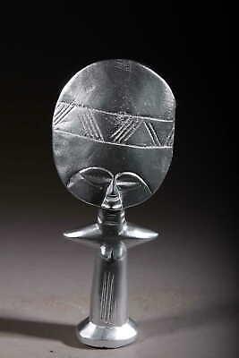 Art Contemporary African Doll Ashanti Silver 121