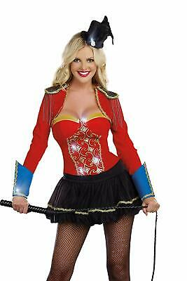 New DREAMGIRL BIG TOP SHOWSTOPPER SEXY CIRCUS RINGMASTER HALLOWEEN COSTUME - Big Top Circus Kostüm