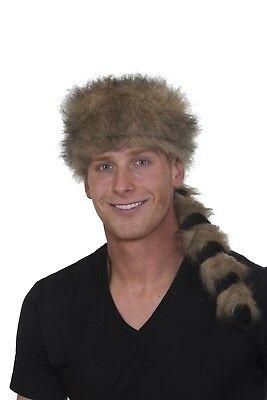 Coonskin Hat Cap Raccoon Davy Crockett Daniel Boone Pioneer Frontier Man Costume - Coonskin Hats