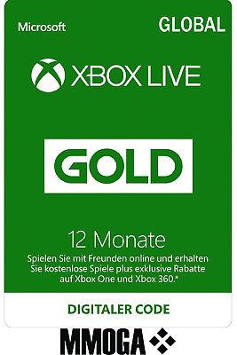 Xbox Live Gold Mitgliedschaft Card 12 Monate Microsoft Xbox 360/One [GLOBAL Key] (Xbox Live 12 Monat)