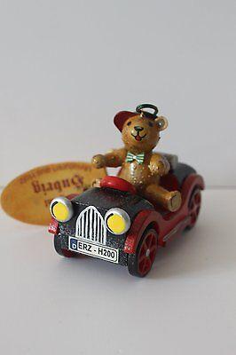 538-140h2002 Hubrig Baumbehang - Auto mit Teddy Neuheit 2017