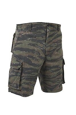 Rothco 2635 Tiger Stripe Camo Vintage Paratrooper Cargo Shorts ()
