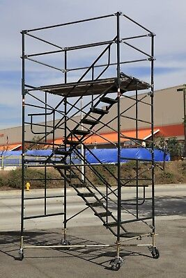 Scaffold Stairway Case Rolling Tower 5 X 7 X 117 To 12 7 Deck High Cbm1290