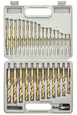 Tooluxe 10055L Titanium Coated Hex Shank Drill Bit Set, 30 P