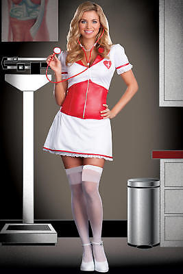Dreamgirl Costumes Love Doctor Nurse Costume: Dress w cincher, Stethoscope, Medi