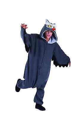 ADULT OXFORD OWL COSTUME NIGHT HOOT BIRD FOREST ZOO ANIMAL PAJAMAS FUNSIE GREY - Woodland Animal Costumes