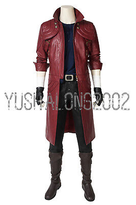 Devil May Cry 5 Dante Cosplay Kostüm Costume Outfit Halloween Shoe ()