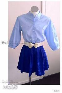 New Blue Bubble sleeves shirt with pearls Kensington Park Burnside Area Preview