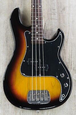 G&L Tribute LB-100 Bass, 3-Tone Sunburst, Brazilian Cherry Fretboard