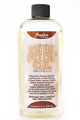 Neatsfoot Oil (Angelus Prime Neats Foot Neatsfoot Oil Liquid Compound Leather Waterproof 8)