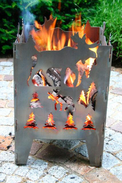 Feuersäule / Feuerkorb ELCH Gr. L aus Stahl von SvenskaV NEU/OVP