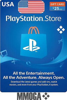 25 Usd Playstation Network Store Card   Psn 25 Us Dollar Prepaid Code   Usa