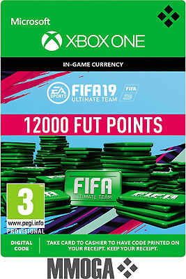 Xbox One - FIFA 19 12000 Points Ultimate Team - 12,000 FUT Point Key Code - DE