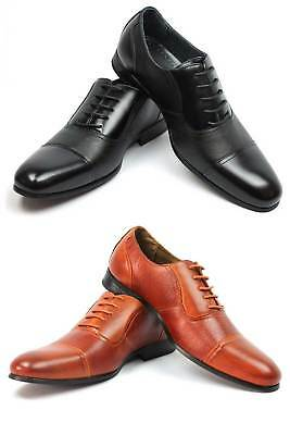 New Men's Ferro Aldo Dress Shoes Cap Toe Lace Up Oxfords Leather Lining - Dresses Shoes