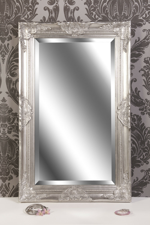 Spiegel Wandspiegel antik silber  Barock CLAIRE 80 x 50 cm