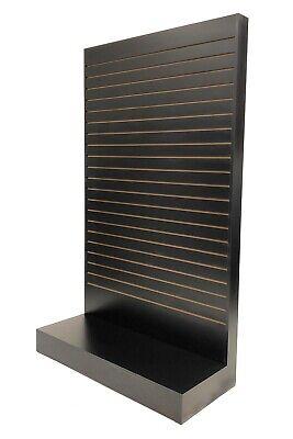 Black Tower Slatwall Unit Knock Down Display Store Fixture Sc-swl-bk